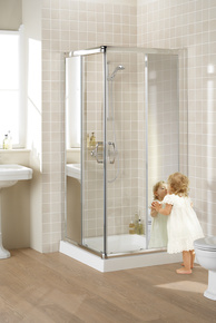 Lakes Mirror Collection Semi-Frameless Corner Entry