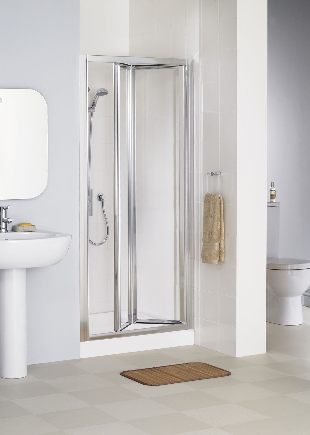 Lakes Bathrooms Framed Bi-Fold Shower Doors