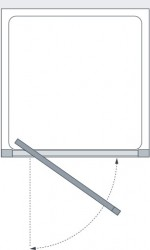Lakes Classic Collection Framed Pivot Door Technical Drawing