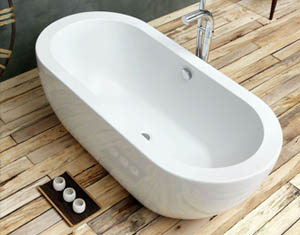 Waters Baths Linear Collection Willow Freestanding Bath