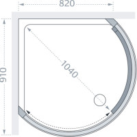 Lakes Classic Curved Corner Slider Technical Drawing