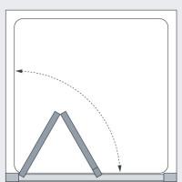 Lakes Classic Semi Frameless Bi Fold Door Technical Drawing