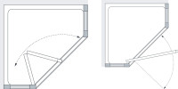 Lakes Classic Semi Frameless Pentagon Technical Drawing