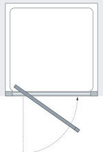 Lakes Classic Semi Frameless Pivot Door Technical Drawing
