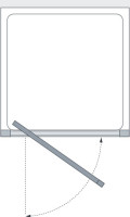 Lakes Coastline Narva Pivot Door Technical Drawing