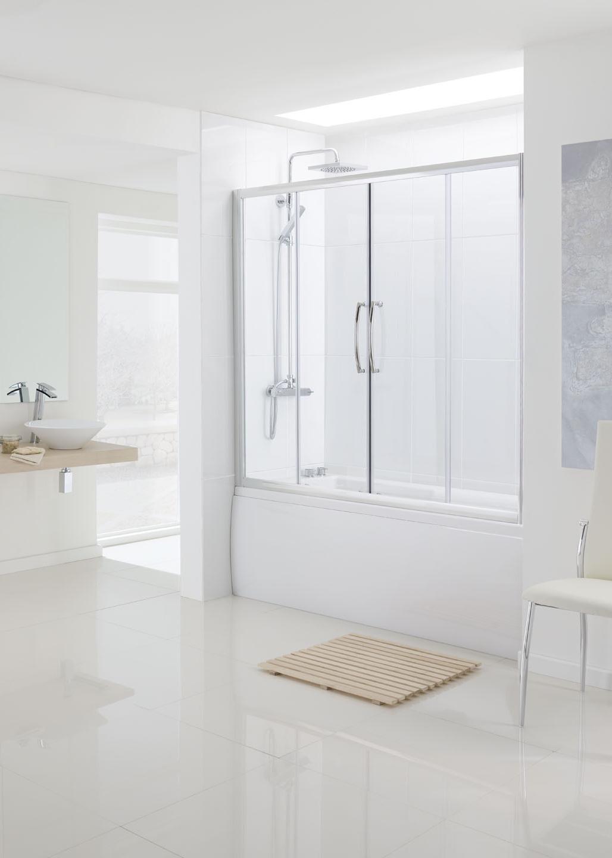 Lakes Classic Over Bath Double Slider Door