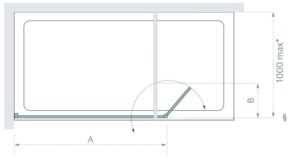 Lakes Coastline Levanzo Shower Screen Technical Drawing