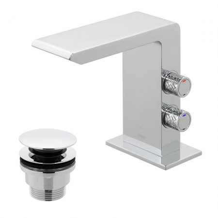 OMI-100-CC-C-P Vado Omika Basin Mixer Tap With Universal Basin Waste