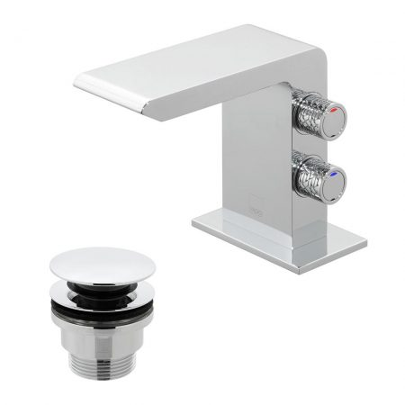 OMI-100M-CC-C-P Vado Omika Mini Basin Mixer Tap With Universal Waste