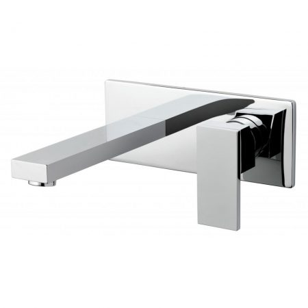NOT-109SA-CP Vado Notion Wall Mounted 2 Hole Single Lever Basin Mixer With Rectangular Back Plate