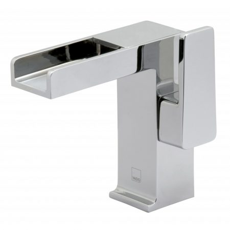 SYN-100-SB- CP Vado Synergie Progressive Single Lever Basin Mixer With Waterfall Spout