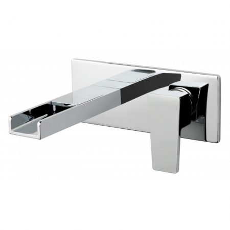 SYN-109SA-CP Vado Synergie 2 Hole Basin Mixer Single Lever Wall Mounted With Waterfall Spout